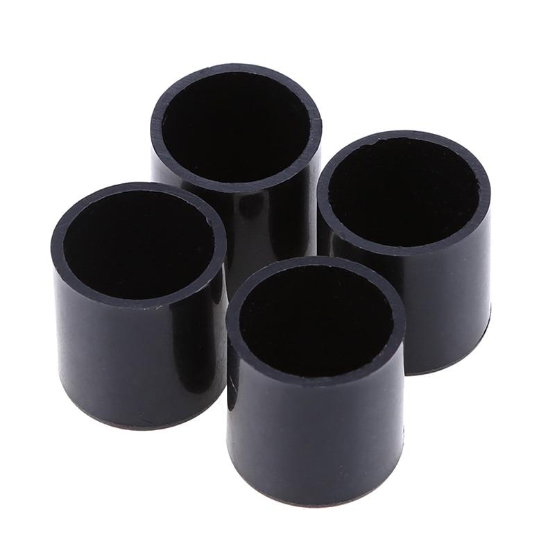 16 19 22 25mm 4x round plastic chair leg caps feet pads for Plastic furniture leg covers