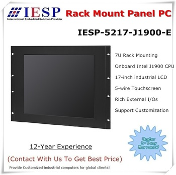 17 inch rack mount industrial panel PC, J1900 CPU, 4GB DDR3,500GB HDD, 17 inch panel pc, Provide custom design services