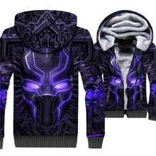 3D Printed Sweatshirts 2019 Black Panther Anime Mens Hoodies Gothic Unisex Jackets Hip Hop Winter Thick Coat Movie Avergers Top