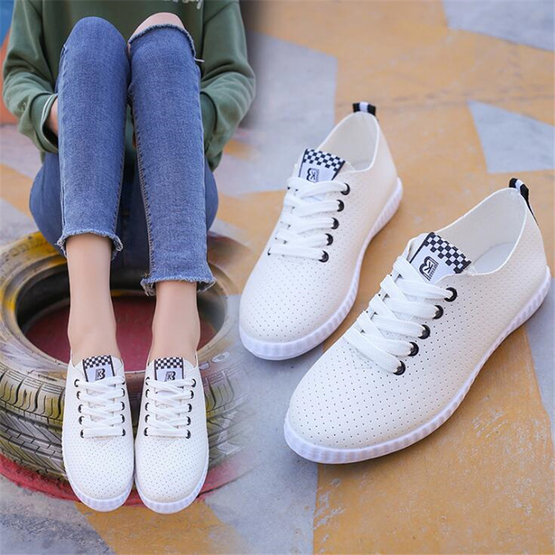 DIWEINI Women Shoes Summer New 2019 Spring Women White Casual Shoes Breathable Flats Fashion Breathable Women Sneakers #F1291DIWEINI Women Shoes Summer New 2019 Spring Women White Casual Shoes Breathable Flats Fashion Breathable Women Sneakers #F1291