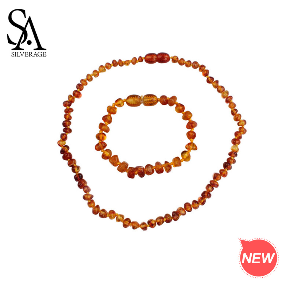 SA SILVERAGE Natural Amber Bracelets Necklaces Jewelry Sets for Baby Girls Boys Fashion Jewelry Sets Two Pieces Amber SetsSA SILVERAGE Natural Amber Bracelets Necklaces Jewelry Sets for Baby Girls Boys Fashion Jewelry Sets Two Pieces Amber Sets