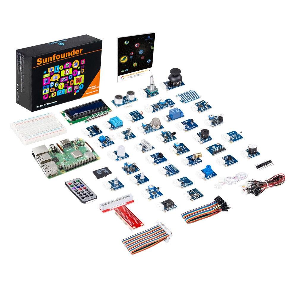 SunFounder 37 in 1 Modules Sensor Stater Kit voor Raspberry Pi 3B +, 3B, 2 Model B en 1 B + (Inbegrepen Raspberry Pi 3 + Board)-in Demo bord van Computer & Kantoor op AliExpress - 11.11_Dubbel 11Vrijgezellendag 1