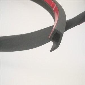 Image 1 - סוג P חותם גומי המכונית 3 M רצועות איטום גומי עמיד למים בידוד קול רעש אבק אוטומטי דלת לקצץ קצה גומי איטום