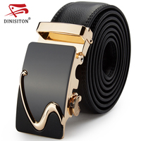 DINISITON High Quality Men Genuine Leather Belt For Mens Automatic Buckle Belts Fashion Designer Luxury Brand