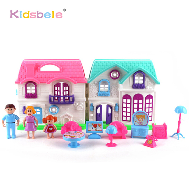 plastic dollhouse furniture sets. plastic dollhouse furniture set toys chair table happy family house pretend play juguetes classic for sets s