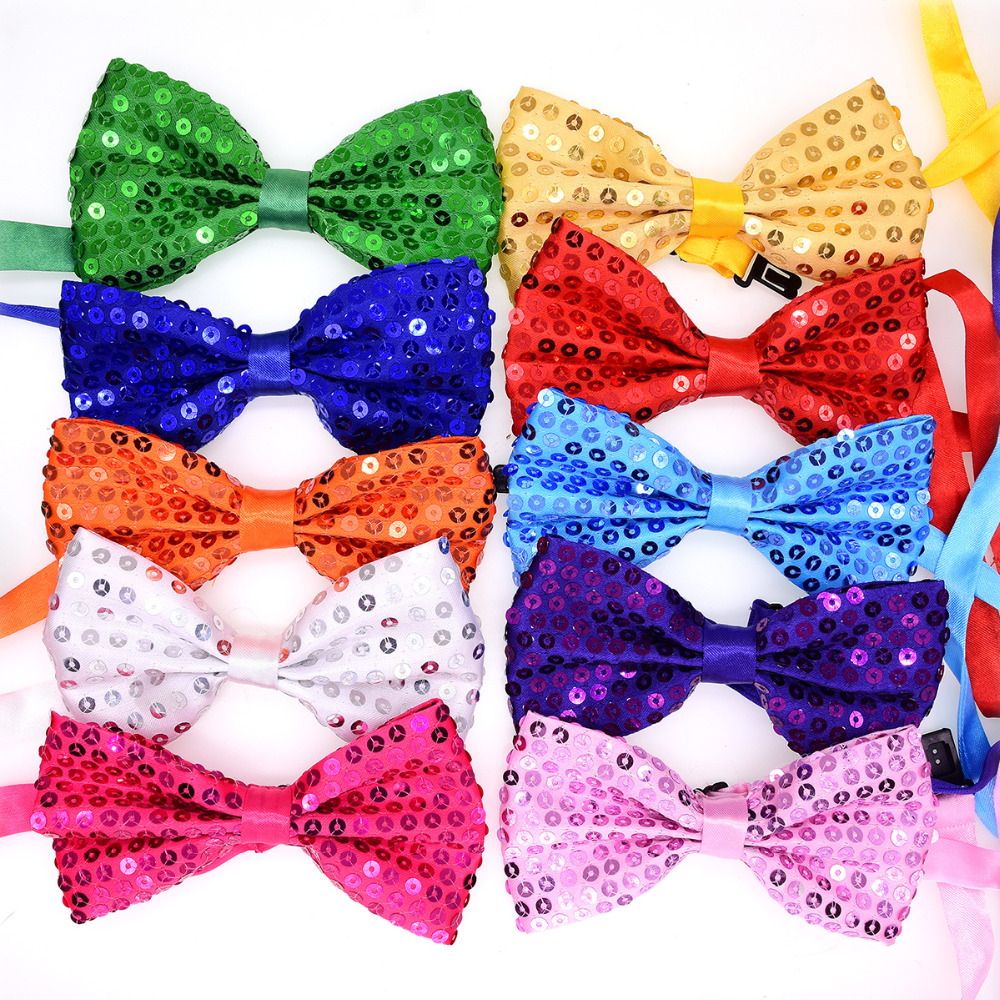 50pcs Pet Cat Dog Bow Ties Dog pet Wedding Neck Accessories Shining Butterfly Puppy Pet Bow
