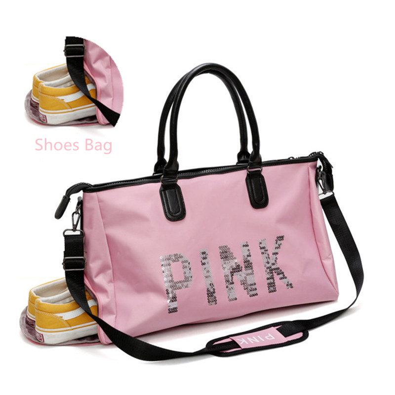 Waterproof Shoulder Sports Gym Bag for Shoes Bags Women font b Fitness b font Yoga Training