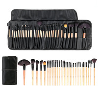 Professional Wood 32Pcs Makeup Brushes Kit Cosmetic Make Up Set Pouch Bag Case