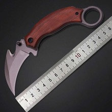 New Hot Sale Outdoor Cutter Folding X52 Claw Wooden Handle Eagle Knife Konjac Camping Jungle Survival Gift