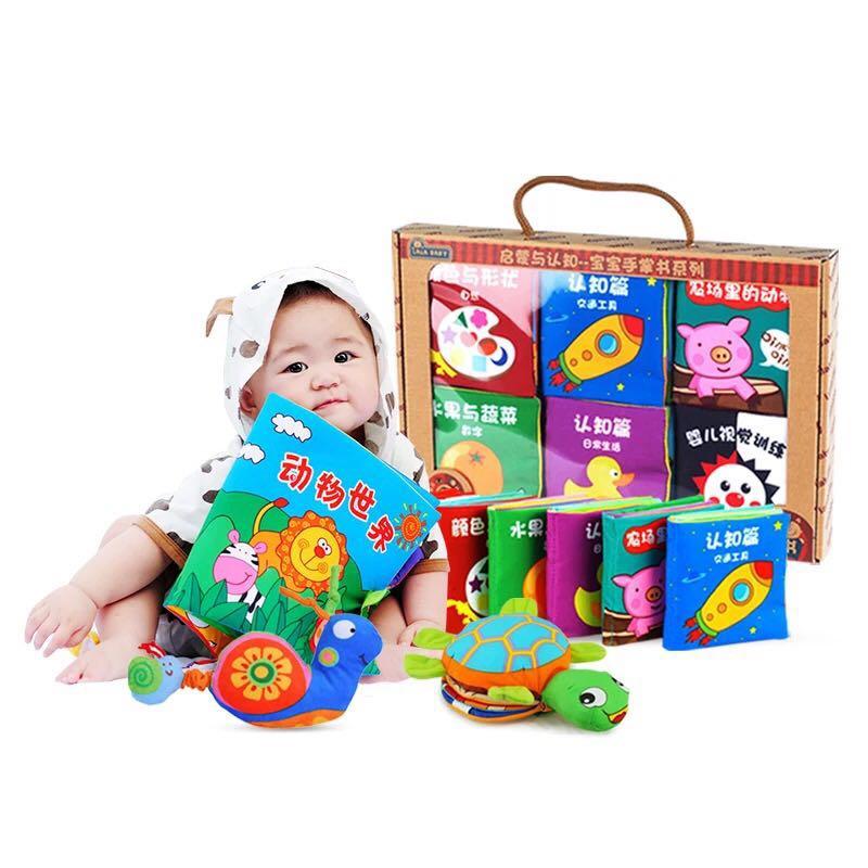 Vente chaude nouveaux enfants âgés de 0-1-3 ans, enseigner aux bébés de 6 à 12 mois, les enfants ne peuvent pas déchirer les livres, les jouets de bébé.
