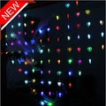2m LED Curtain Light 78 Hearts Stype 9 Colors LED Party Holiday CHRISTMAS WEDDING Decoration LIGHTs Lamps Drop Shipping