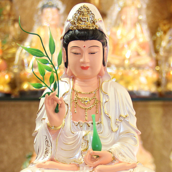 Resin Guanyin Bodhisattva, Buddha statue,  Kwan-yin, A Buddism godness Guanyin, Grant whatever is requested, Height about 29cm ~