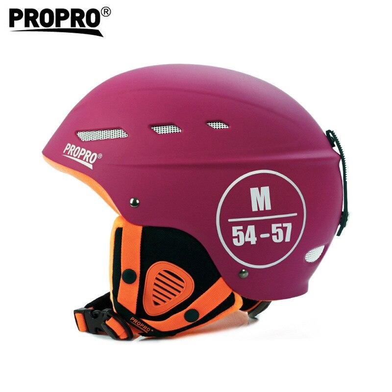 The Best Propro New Snowboard Ski Helmet Veneer Skateboard Skiing Helmet Children Adult Outdoor Sports Breathable Windproof Warm Helmet For Fast Shipping Sports & Entertainment