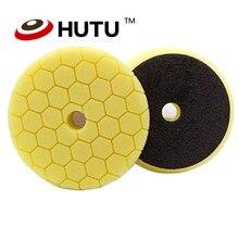 Buffing Pad 30mm Thick 6inch Hexagon Pattern Europe Sponge Polishing For Dual Action Car Polishier Yellow Medium Cutting