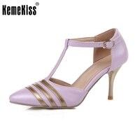 Toptan Düşük Fiyat Yeni Moda Bayan Ayakkabıları Sivri Burun Pompaları Seksi Süper Yüksek Topuklar Vogue T-Kayışı Ayakkabı Boyutu 30-47 PA00780