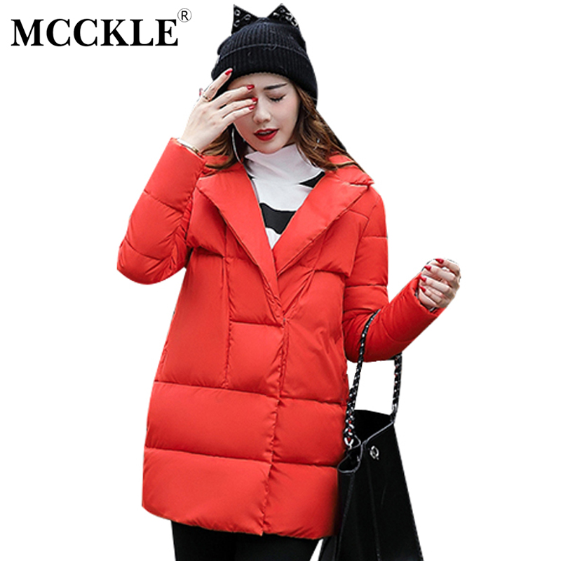 MCCKLE Official Store MCCKLE 2017 Autumn Winter Down Coats Thick warm long section of clothing Outerwear  Lady Clothing