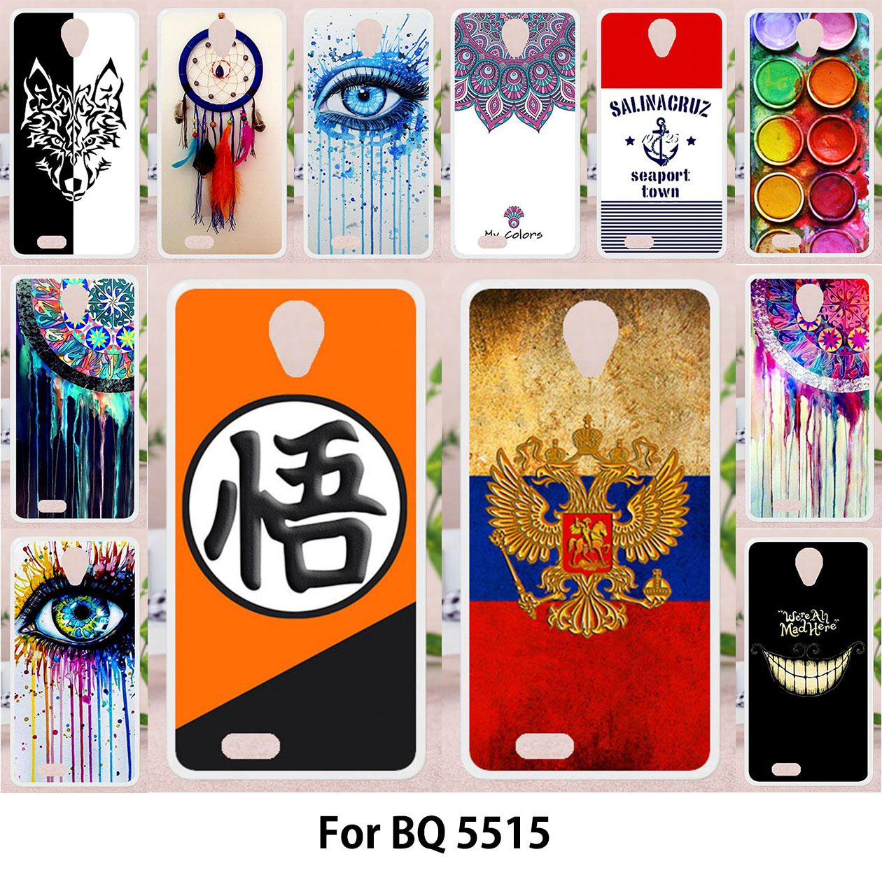 TAOYUNXI For BQ BQ-5515 Wide BQ Mobile BQS-5515 Wide BQS 5515 Case Silicon TPU Soft Cover Painting Phone Cases Fashion Patterns