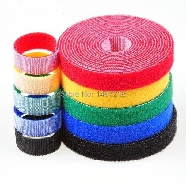 1f61e6091e84 Freeshipping 3cmx5m/roll ultra thin magic tape cable tie nylon strap ...