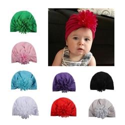 Детская шапка с лепестками и цветами, детская мягкая шляпа в богемном стиле, детская шапка с цветком, реквизит для фотосъемки на весну и осен...