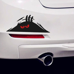 New Coming Funny Red Eyes Monster Peeking Car Bumper Window Vinyl Decal Sticker Water Proof Auto Bumper Decal High Quality(China)