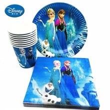40pcs Disney Cartoon Ice Snow Princess Napkin Birthday Party Decorating Elsa Anna Festival Party Products Disney Children Frozen disney on ice monterrey sigue tus emociones