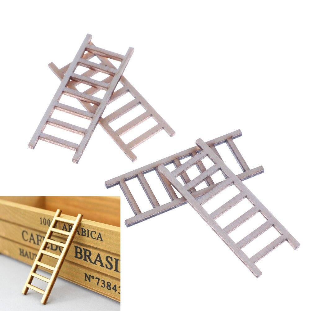 "Miniature Dollhouse FAIRY GARDEN Accessories ~ Wood 6/"" Straight Ladder"