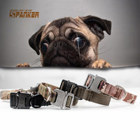 Training Dog Leash Hunting Dog Neck Strap Tactical Dogs Collars Adjustable Necklace With Handle Zinc Alloy