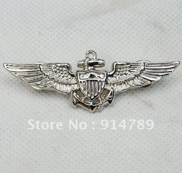 WW2 US NAVAL AVIATORS METAL WINGS PIN -32162