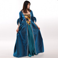 Vintage Medieval Victorian Renaissance Cosplay Gothic Dress Set Halloween Women Pirate Irish Costume