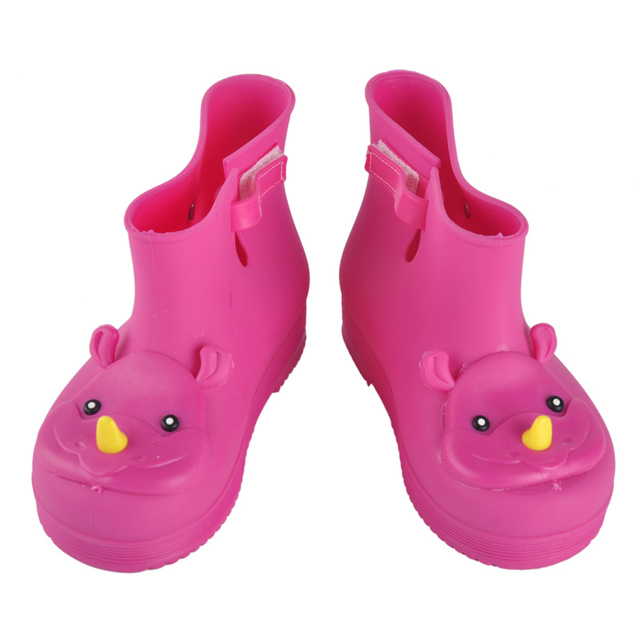 colorful quality comfortable soft Children Boots Mini Melissa Rhino Girls Rainboots Duck Jelly Shoes Short Water Shoe Children