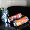 FREE SHIPPING  100pcs/lot LED Key Ring cola Can  Led Key Chain  Flashlight 4*1CM Smile bottle can Creativity  Promotional gifts