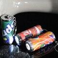 O envio gratuito de 100 pçs/lote porta chaves Led cola pode Led chaveiro lanterna 4 * 1 CM sorriso bottle pode criatividade brindes promocionais