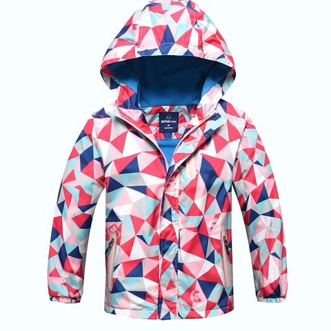 New spring autumn children kids jackets outwear baby boys girls jackets waterproof windproof polar fleece jackets double-deck Multan