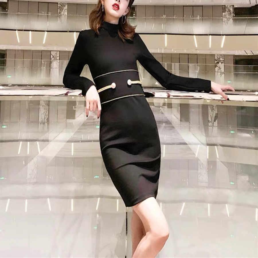 Dressbird Для женщин весеннее платье с длинными рукавами Vestidos пикантные черные сапоги зеленый цвет красного вина, мини, для клуба, элегантные женские туфли-лодочки вечерние ночные платья Vestidos
