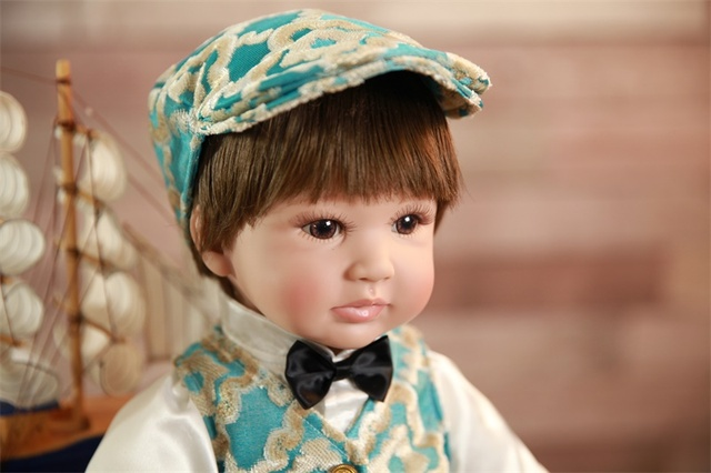60cm Silicone Reborn Baby Doll Toys Lifelike 24inch Toddler Babies Dolls Birthday Present Gift Girls Brinquedos