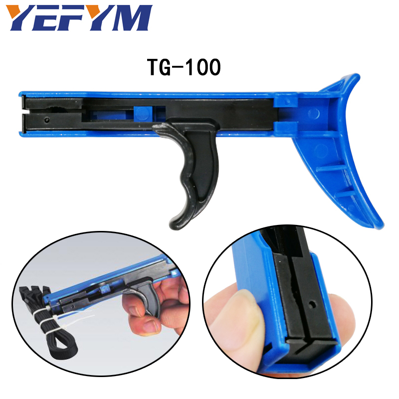 YEFYM TG-100 fastening and cutting tools special for cable tie gun for nylon cable tie width: 2.4-4.8mm hand tools fashionable pink cartoon lion and handgun pattern 9 5cm width tie for men