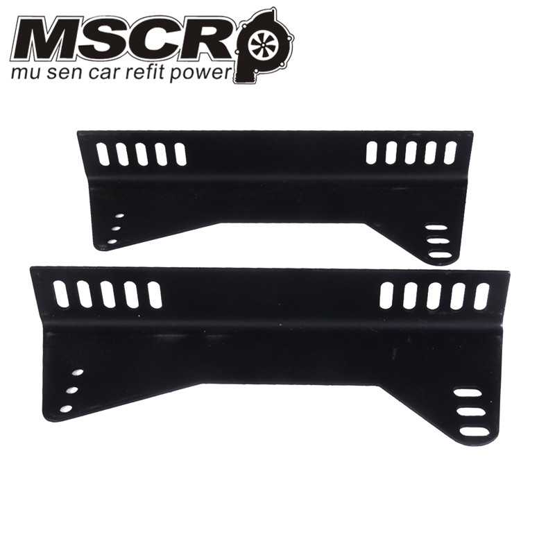 Universal Auto Replace Parts Iron Strength Brake Black Seat Bottom Mount L Board Seat Side Mounting