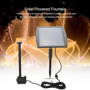 насос для фонтана | 2,5 Вт водяной насос на солнечной энергии Фонтан Водяной насос для бассейна пруд садовые растения Аквариум Фонтан