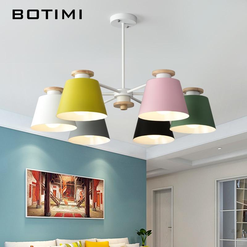 Schon BOTIMI Bunte Kronleuchter Beleuchtung Für Wohnzimmer LED Lustre Holz Hängen  Licht Decke Kronleuchter Moderne Küche Lichter