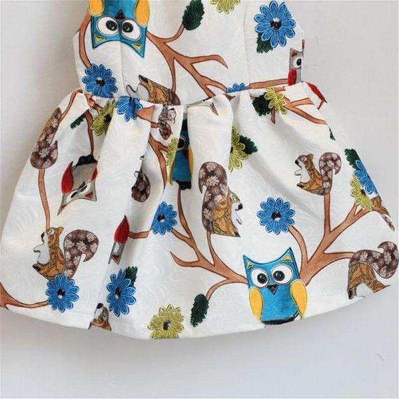 76a588c2f123 Summer New Chic Kids Baby Girls Dress Sleeveless Owl Print Tutu Dresses One  Piece Party Clothes Children's Dress
