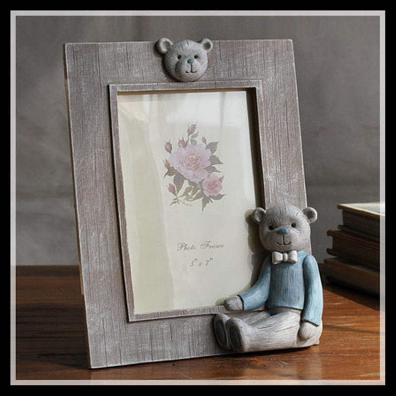 Crown Shaped Photo Frame Pink Baby Picture Frame Blue Photo ...