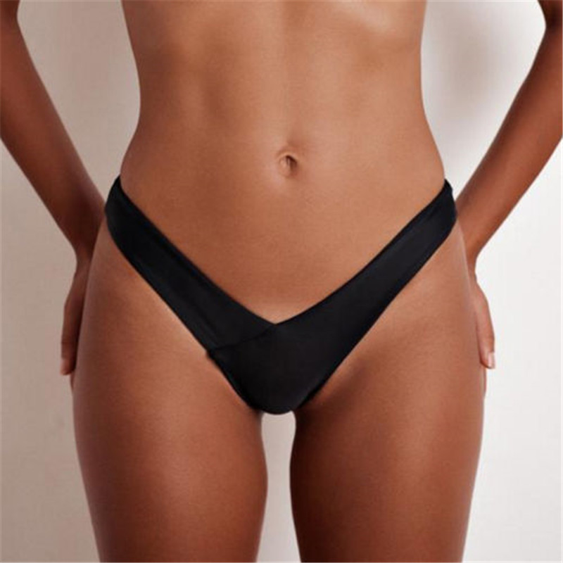 <font><b>2018</b></font> Cheeky Bottom <font><b>Sexy</b></font> <font><b>Brazilian</b></font> Mini Thong V Shape G-String <font><b>Bikini</b></font> Beach Underwear <font><b>Women</b></font> Pure <font><b>Swimwear</b></font> Briefs <font><b>Swimsuit</b></font> Panties image