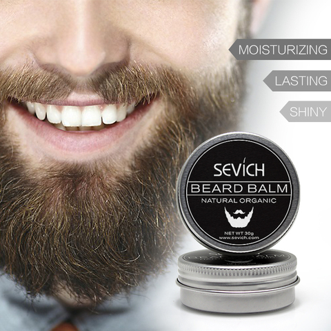 Natural Beard Balm Beard Conditioner Professional For Beard Growth Organic Mustache Wax For beard Smooth Styling 30g 60g sevich Pakistan