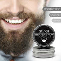 Natural Beard Balm Beard Conditioner Professional For Beard Growth Organic Mustache Wax For beard Smooth Styling 30g 60g sevich