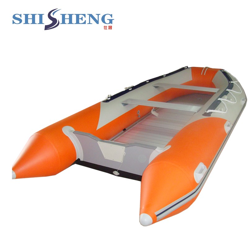 Fishing Boat With Floor Inflatable Pontoon Boat With Electric Motor