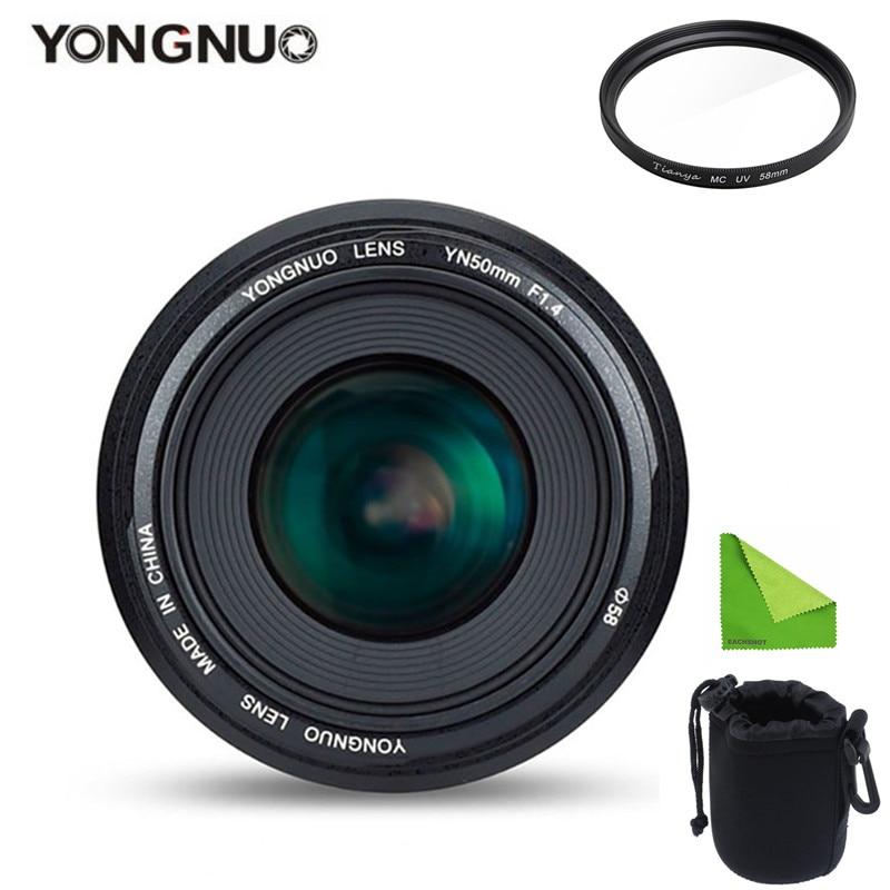 YONGNUO YN50mm 50mm F1 4 Standard Prime Lens Large Aperture Auto Focus Lens for Canon EOS