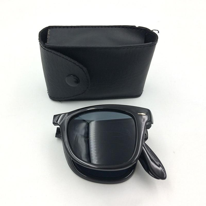 9cdf4d1da الكلاسيكية للطي النظارات الشمسية مع حالة العلامة التجارية مصمم للجنسين  الشمس نظارات رجل والنساء نظارات الرياضة نظارات Oculos gafas B2
