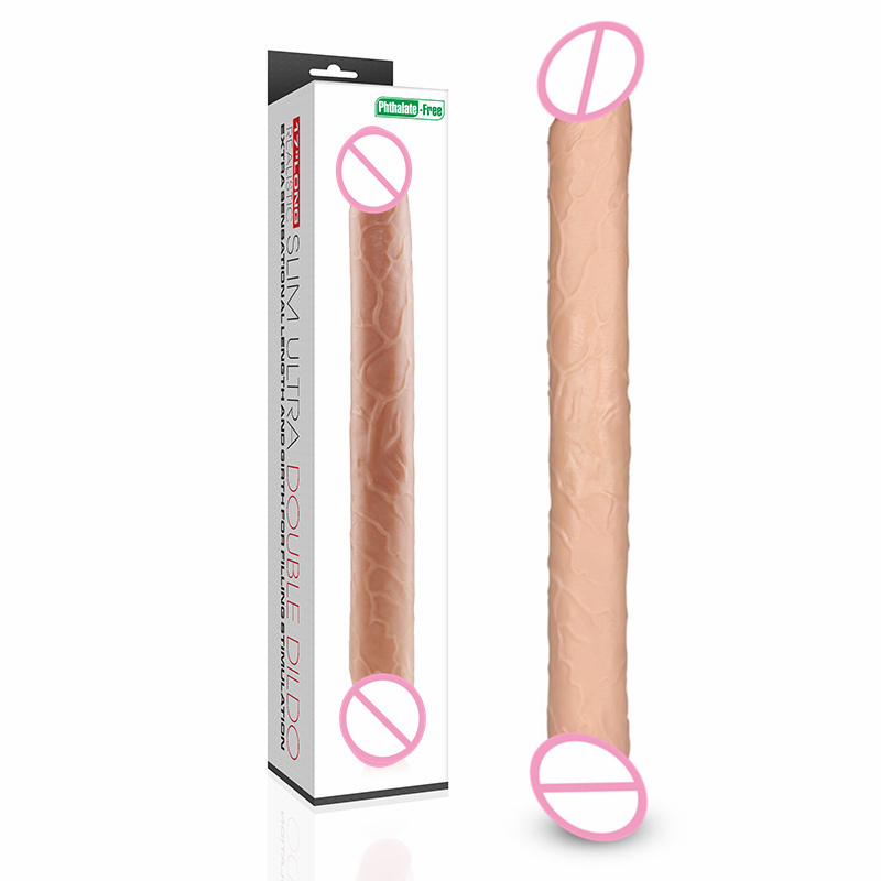 lovetoy Huge Double Lesbian Dildo Long 43cm Soft PVC Women Vagina Penis Double Ended Dong Anal Toy Adult Sex Products long double dildo double dong huge dildo realistic male artificial penis dildo gay adult sex toys for women lesbian double ended
