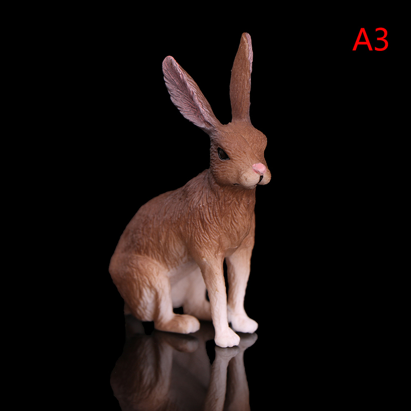 Simulation rabbit animal models toys forest figurine educational toy for kids