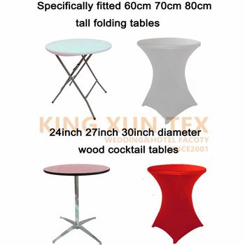 Dearest 5pcs Stretch Bar Table Cover Spandex Lycra Cocktail Table Covers For Hotel Party Wedding Decoration